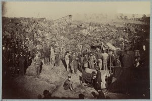 Andersonville Prison, Men Receiving Rations