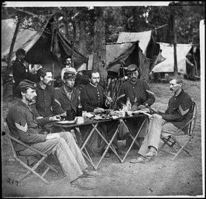 Civil War Soldiers Eating Food