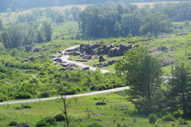 Closer look at Devil's Den from Little Round Top