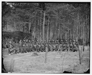 Company F, 114th Pennsylvania Infantry (Zouaves) with Fixed Bayonets