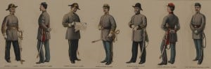 Confederate Civil War Officers Uniforms