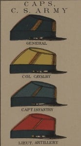 Confederate Civil War Uniforms Caps