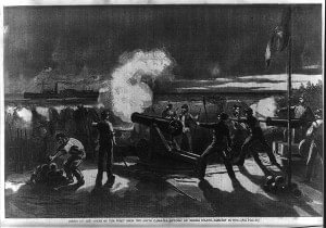 Confederates Firing on The Star of the West
