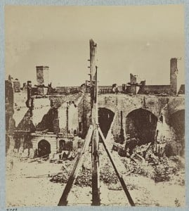Fort Sumter Interior Damage, 1861