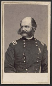 General Ambrose Burnside led Ninth Corps during Battle of the Crater