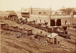 Nashville Tennessee Railroad Depot, 1864