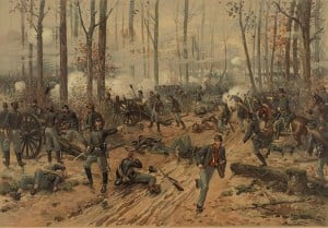 Painting of the Battle of Shiloh, April 6th - 7th 1862
