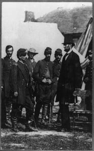 President Abraham Lincoln at Antietam Battlefield, 1862