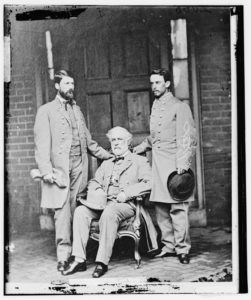 Robert E Lee With Officers at McLean's House, Appomattox, VA After His Surrender