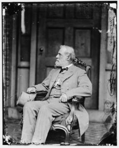 Robert E. Lee Seated at McLean's House, Appomattox, After His Surrender