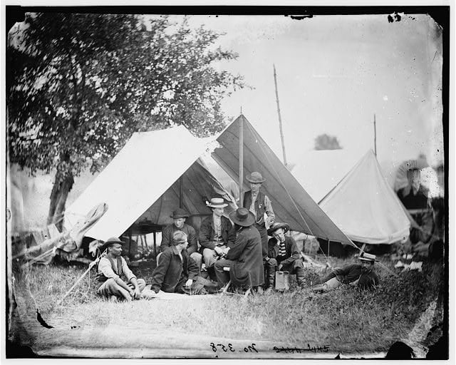 Civil War Technology - Telegraph Operators for the Army of the Potomac, August 1863