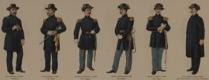 Union Civil War Officers Uniforms