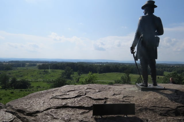 Union General Warren on Little Round Top