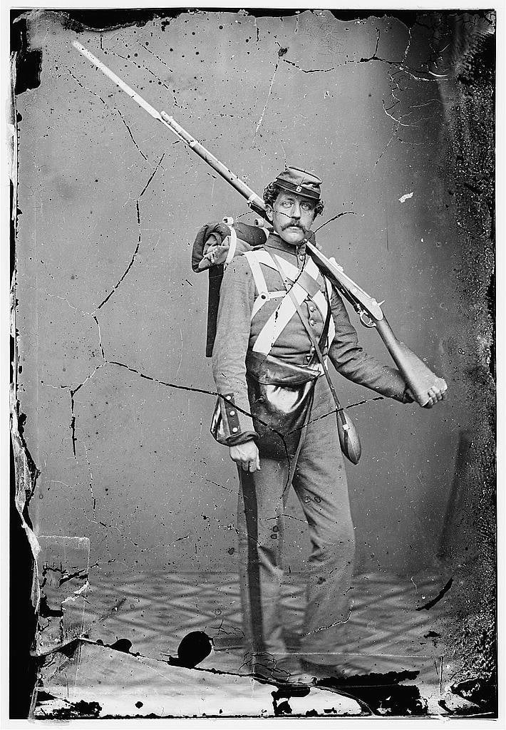 Union Soldier with Civil War Bayonet