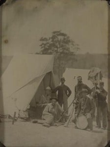 Union Soldiers with Rifles