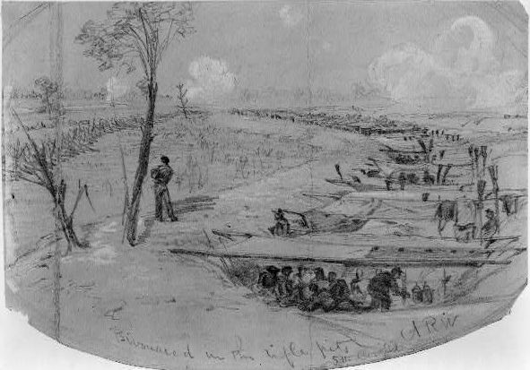 Union troops in Rifle Pits