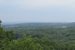View from Observation Post on top of Culp's Hill