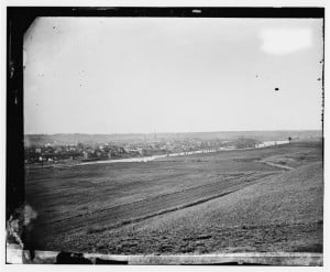 View of Fredericksburg, Virginia from across the Rappahannock River