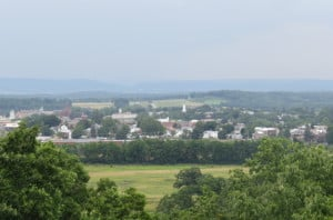 View of Gettysburg from Observation Post on top of Culp's Hill