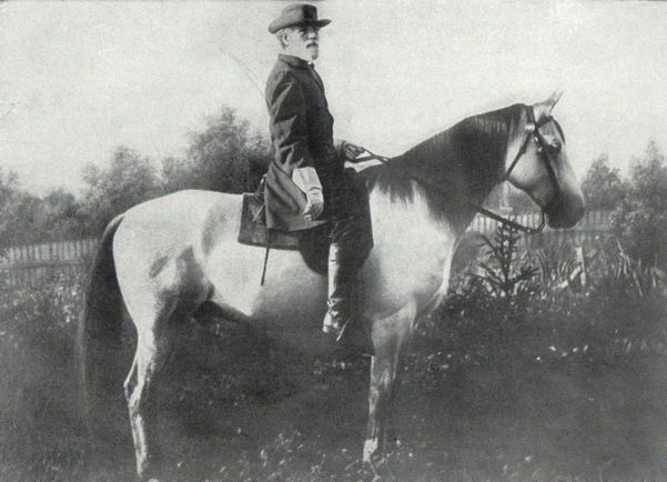 Robert E. Lee on his horse Traveler
