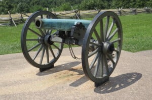 Civil War Napoleon cannon