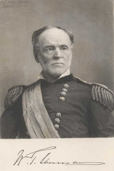 Portrait of an older General Sherman