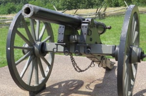 Civil War Whitworth cannon