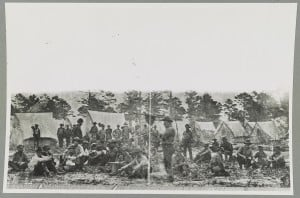 Alabama troops in Confederate camp Pensacola, FL