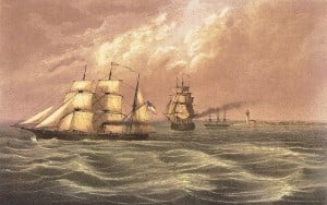 The Brooklyn chasing Confederate steamer Sumter June 30th 1861