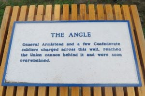 Bloody Angle Plaque - High Water Mark of the Confederacy
