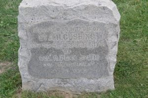 This is the spot where Cushing was killed