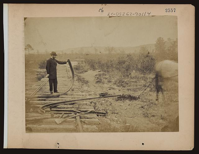 Confederate Railroads - Destroyed Railway Line