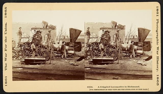Destroyed Confederate Railroad Locomotive