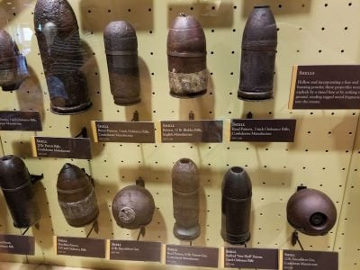 civil war artillery shells